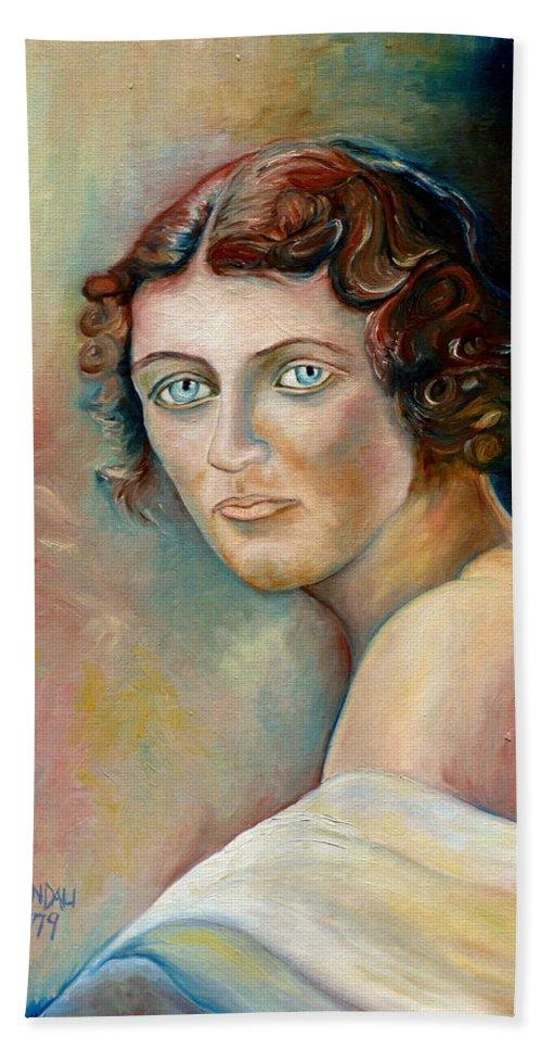 Portrait Bath Towel featuring the painting Commission Me Your Face by Carole Spandau