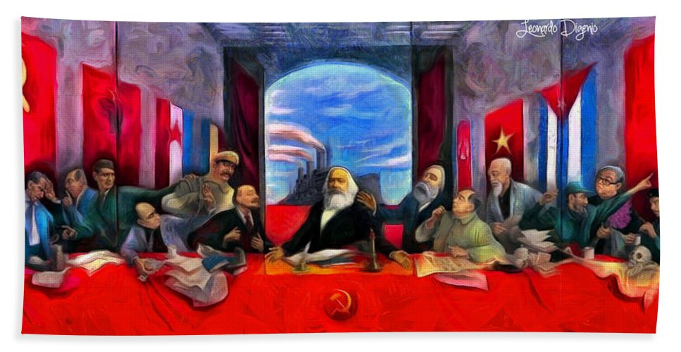 Communist Last Supper Bath Towel For Sale By Leonardo Digenio