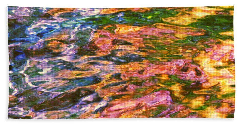 Water Art Bath Sheet featuring the photograph Competitive Forces by Sybil Staples