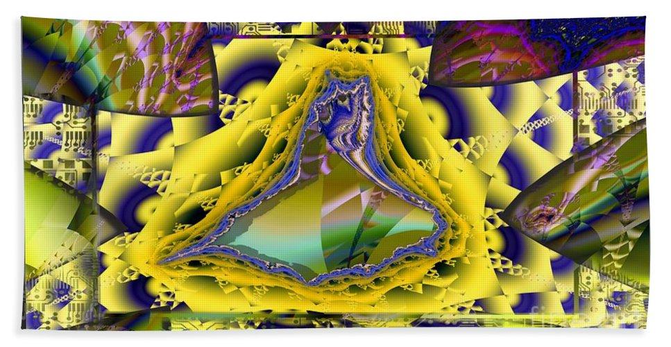 Digital Bath Sheet featuring the digital art Computer Art by Ron Bissett