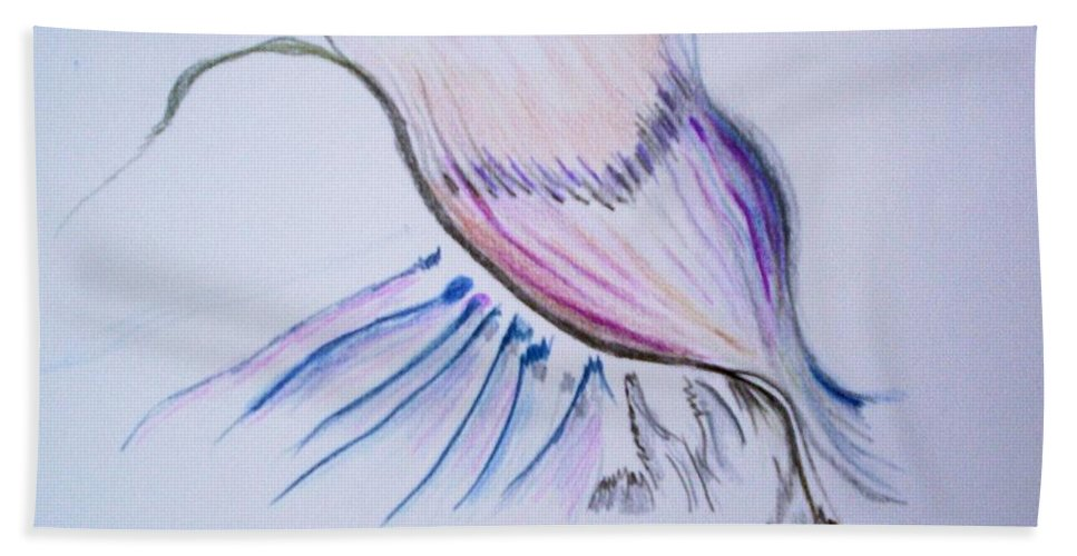 Abstract Painting Hand Towel featuring the painting Conception by Suzanne Udell Levinger