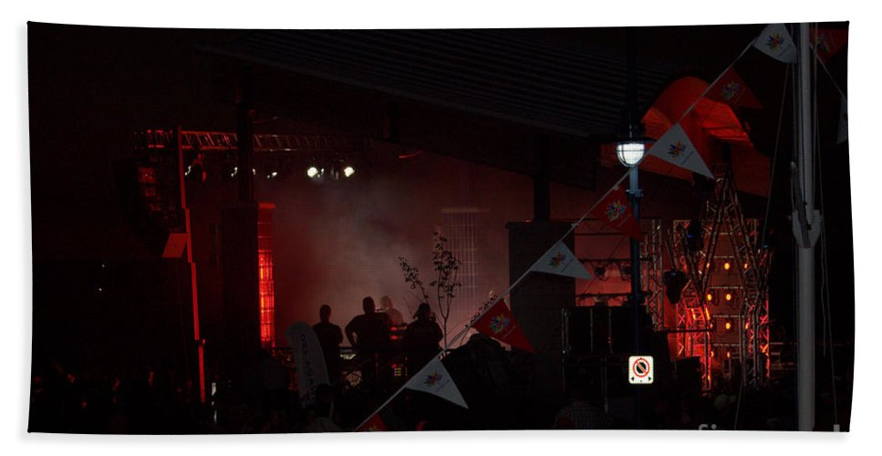 Grand Bend Hand Towel featuring the photograph Concert Canada 150 2 by John Scatcherd