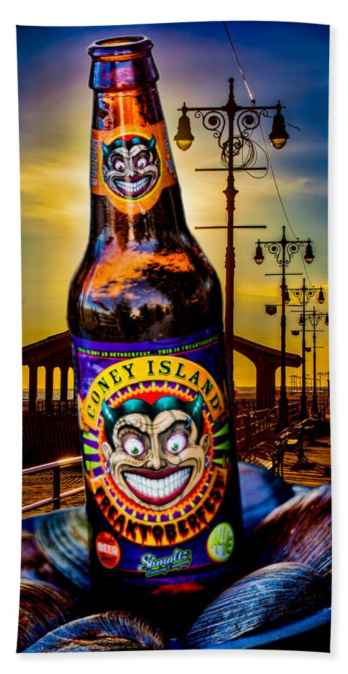 Beer Hand Towel featuring the photograph Coney Island Beer by Chris Lord