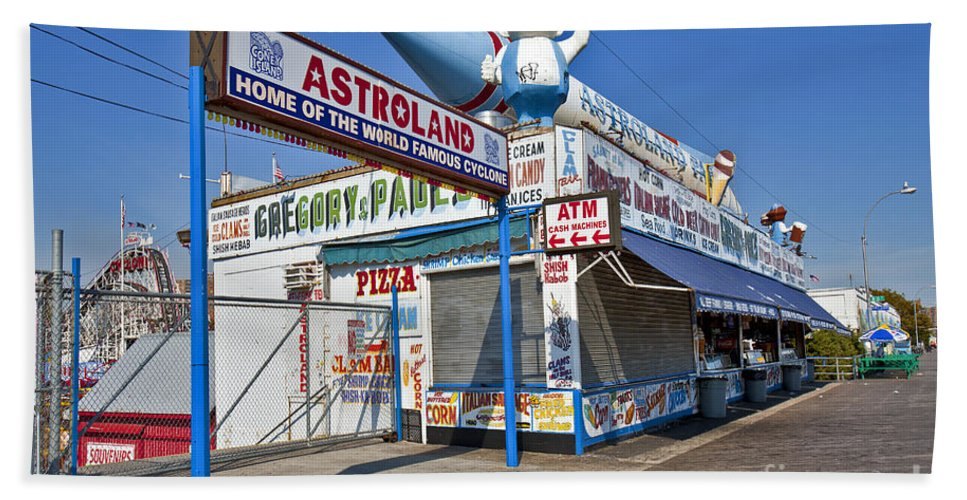 Astroland Bath Sheet featuring the photograph Coney Island Memories 11 by Madeline Ellis