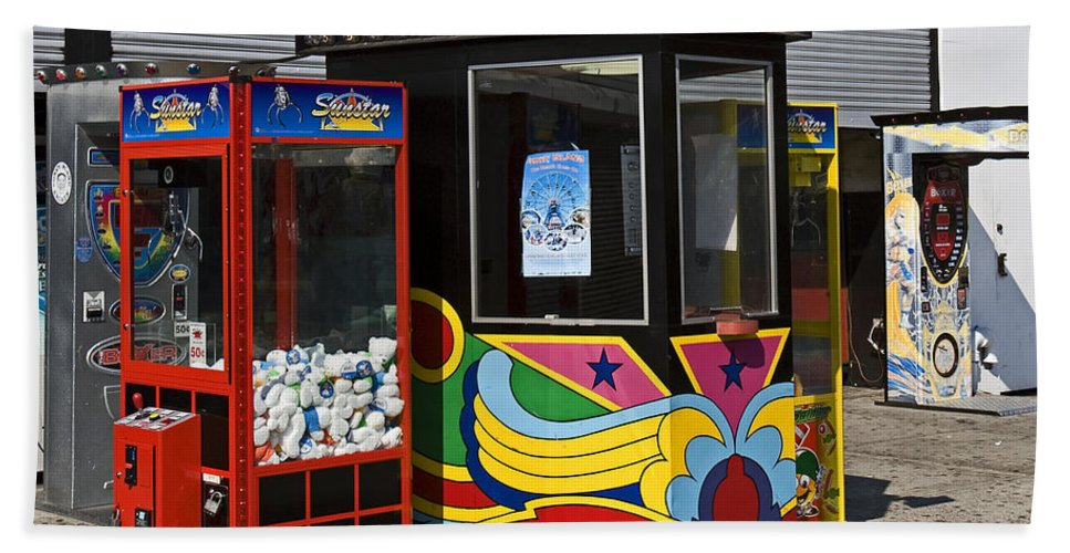 Coney Island Bath Sheet featuring the photograph Coney Island Memories 3 by Madeline Ellis