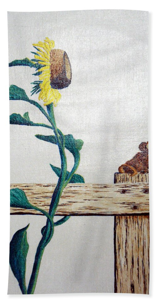 Still Life Hand Towel featuring the painting Confluence by A Robert Malcom