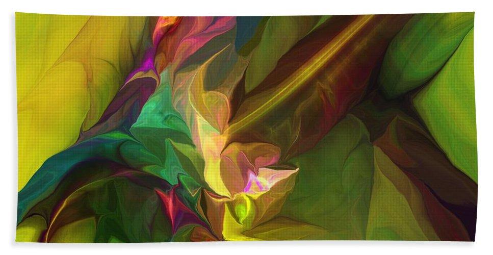 Fine Art Bath Towel featuring the digital art Confluence by David Lane