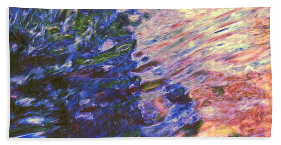 Abstract Bath Sheet featuring the photograph Congruent Forces by Sybil Staples