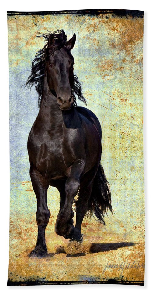 Bath Towel featuring the photograph Conqueror by Jean Hildebrant
