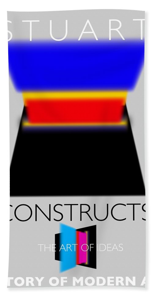 De Stijl Hand Towel featuring the painting Constuctivist Poster by Charles Stuart