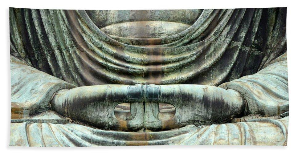 Grand Buddha Bath Sheet featuring the photograph Contemplation by Corinne Rhode
