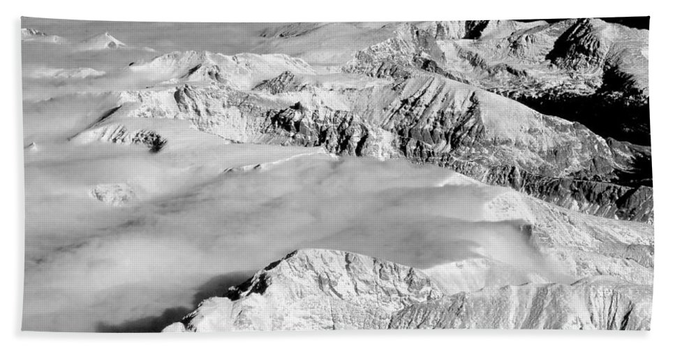 Continental Divide Bath Sheet featuring the photograph Continental Divide Clouds Rocky Mountains by James BO Insogna