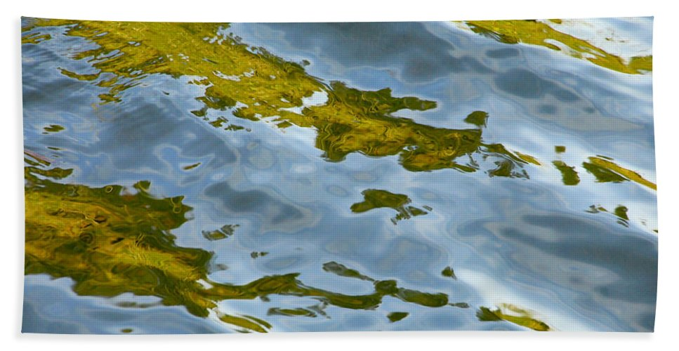 Water Hand Towel featuring the photograph Continental Drift by Donna Blackhall