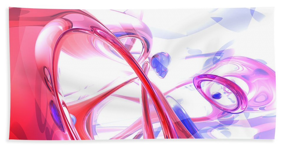 3d Hand Towel featuring the digital art Contortion Abstract by Alexander Butler
