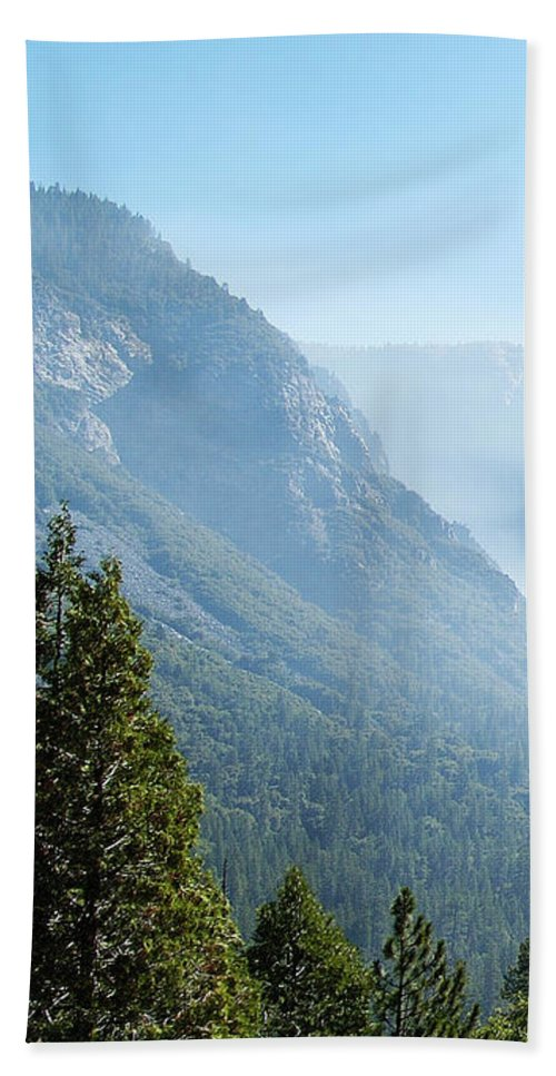 El Capitan Bath Towel featuring the photograph 1 Of 4 Controlled Burn Of Yosemite Section by Michael Bessler
