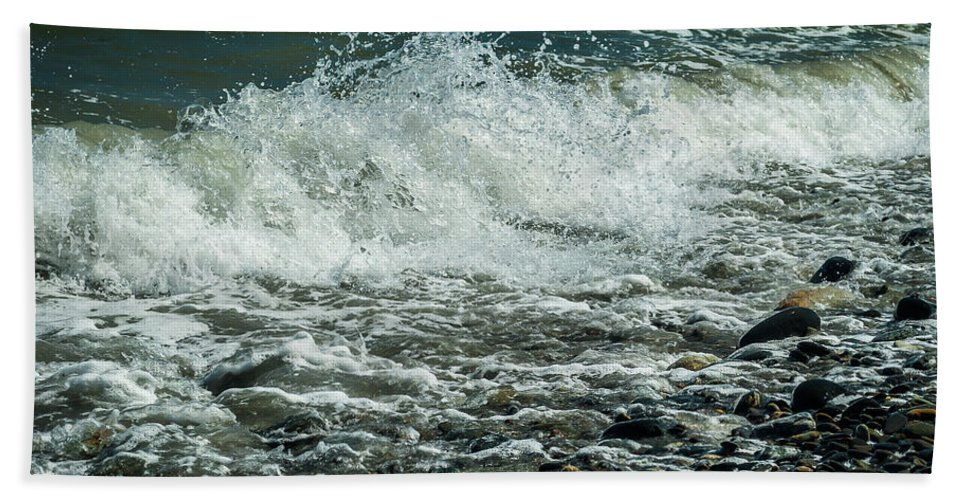 Beach Hand Towel featuring the photograph Convergence by Rebecca Bryson