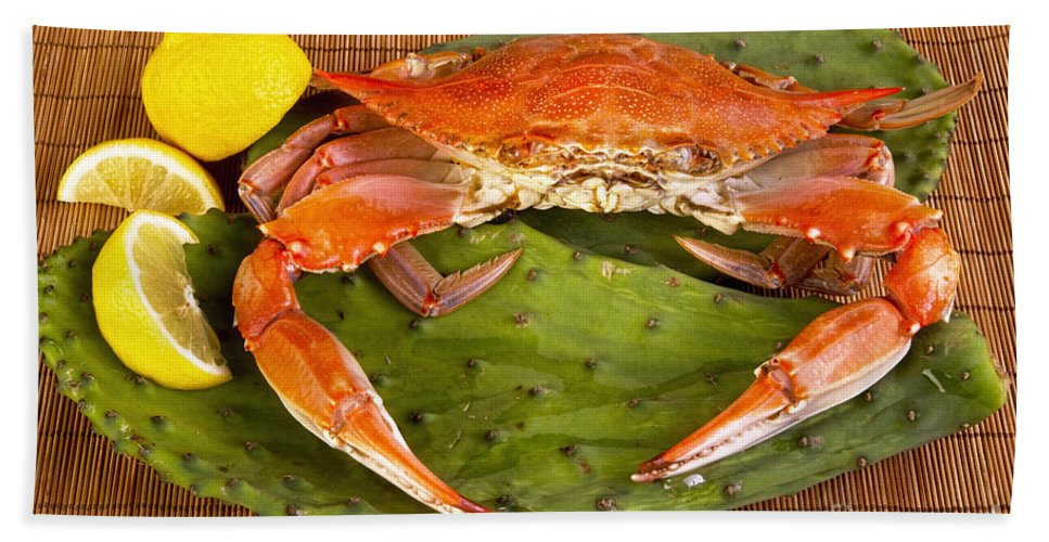 Cooked Crab  Hand Towel
