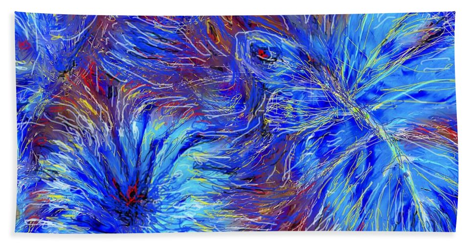Blue Hand Towel featuring the photograph Cool Blue by Ian MacDonald