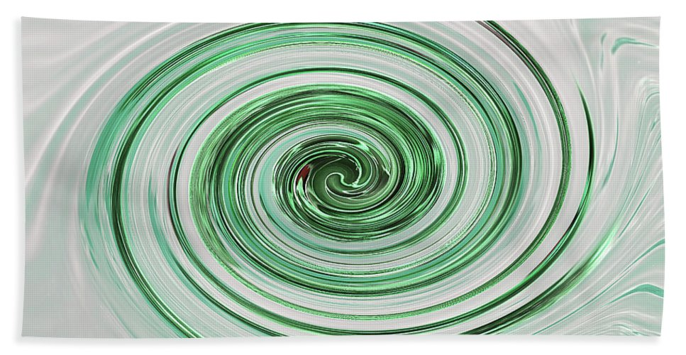 Mint Green Abstract Hand Towel featuring the photograph Cool Mint Whip by Gill Billington