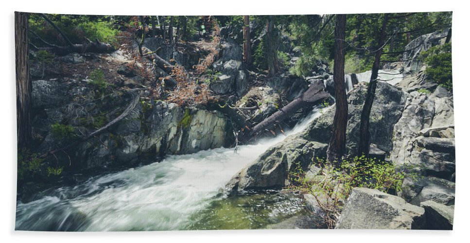 California Bath Towel featuring the photograph Cool Mountain Stream by Margaret Pitcher