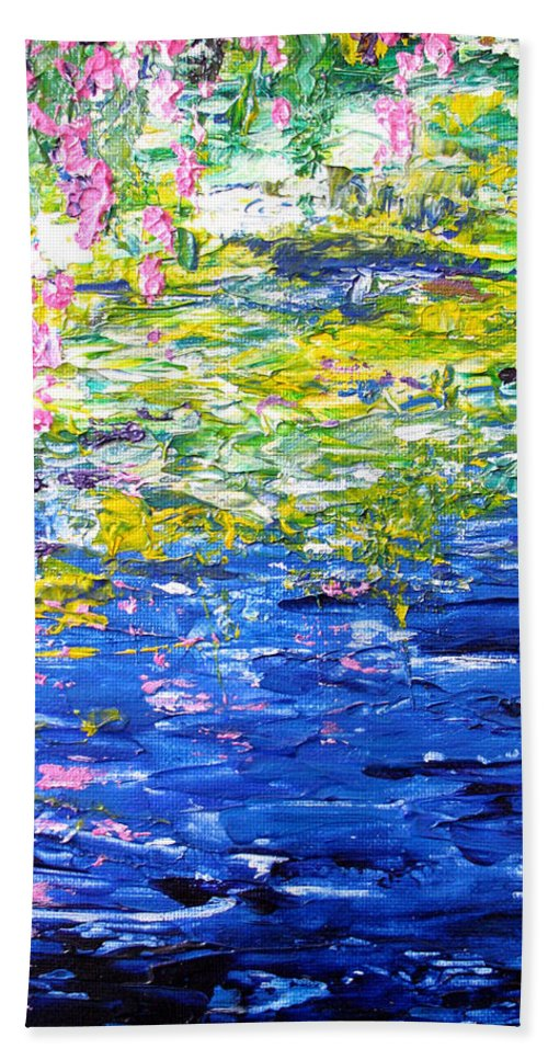 Water Hand Towel featuring the painting Cool Waters by Elaine Booth-Kallweit