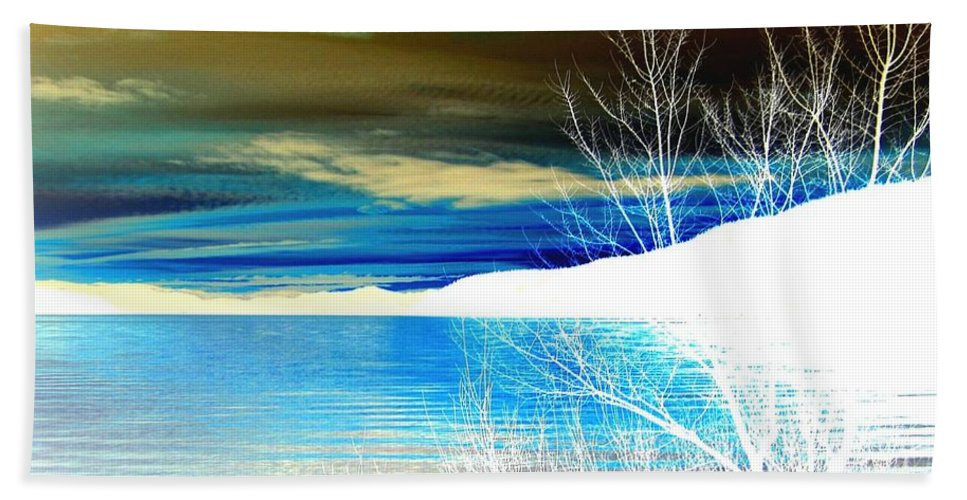 Winter Hand Towel featuring the digital art Cool Waters by Will Borden