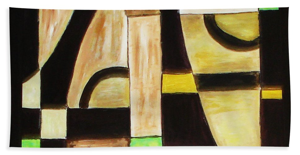 Acrylic Painting Bath Sheet featuring the painting Cool by Yael VanGruber