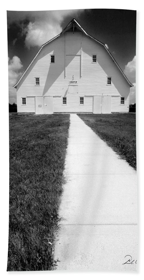 Photography Hand Towel featuring the photograph Cooper Barn by Frederic A Reinecke
