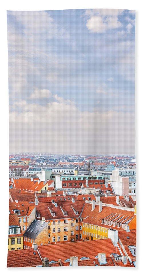Traditional Bath Sheet featuring the photograph Copenhagen City Denmark by Sophie McAulay