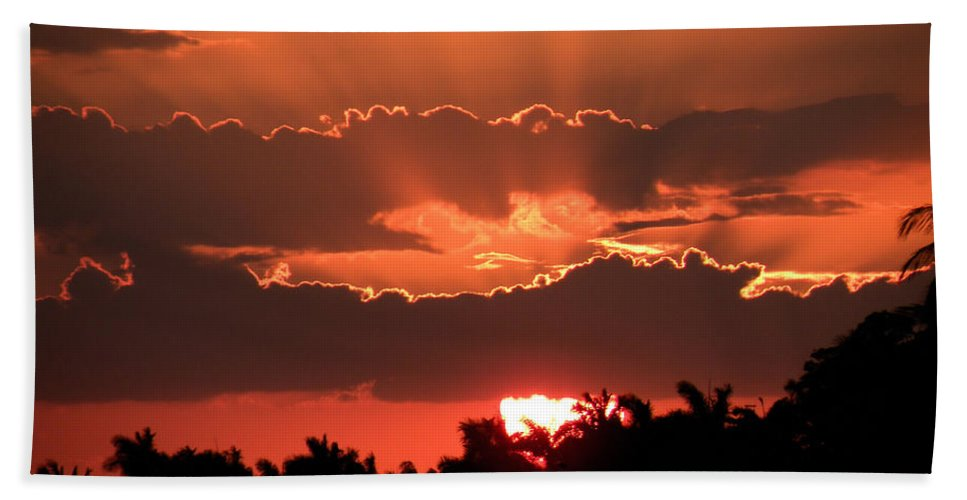 Sunset Bath Sheet featuring the photograph Copper Sunset by Rosalie Scanlon