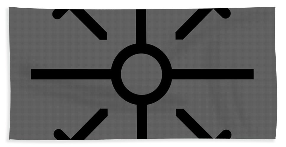 Religion Hand Towel featuring the digital art Coptic Cross by Frederick Holiday