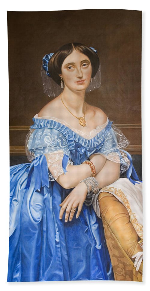 Ingres Hand Towel featuring the painting Copy After Ingres by Rob De Vries