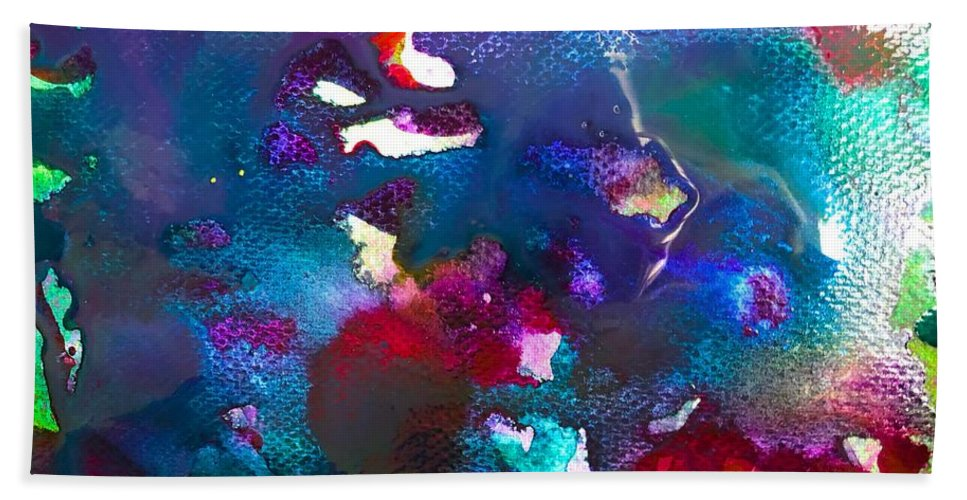 Glimpse Art Bath Sheet featuring the painting Coral Life by Bii Bii