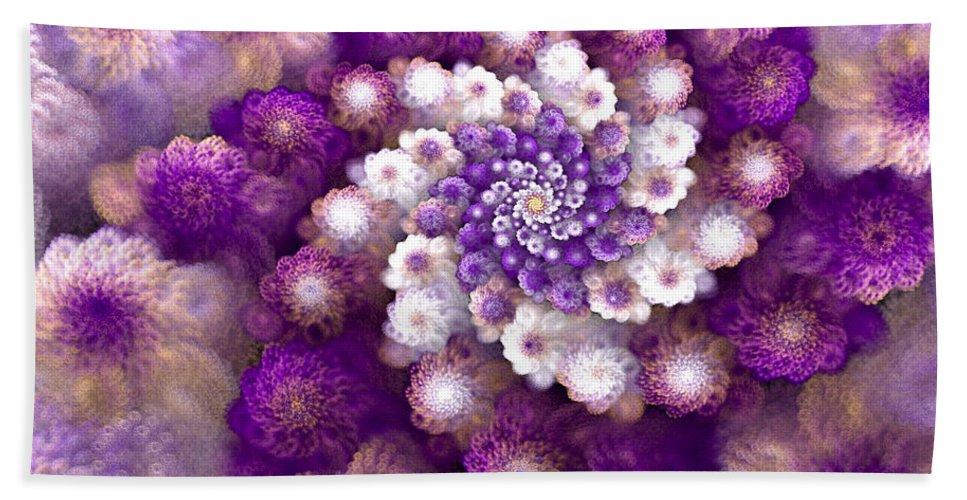 Fractal Bath Sheet featuring the digital art Coraled Blooms by Amorina Ashton