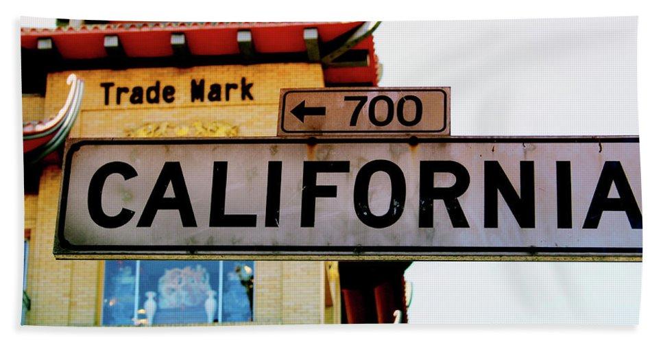 California Bath Towel featuring the photograph Corner Of California- Art By Linda Woods by Linda Woods