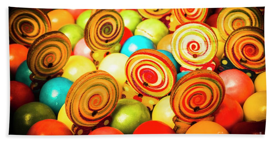 Colourful Bath Towel featuring the photograph Corner Store Candies by Jorgo Photography - Wall Art Gallery