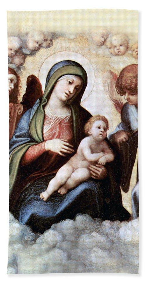 Correggio Hand Towel featuring the photograph Correggio Painting by Munir Alawi