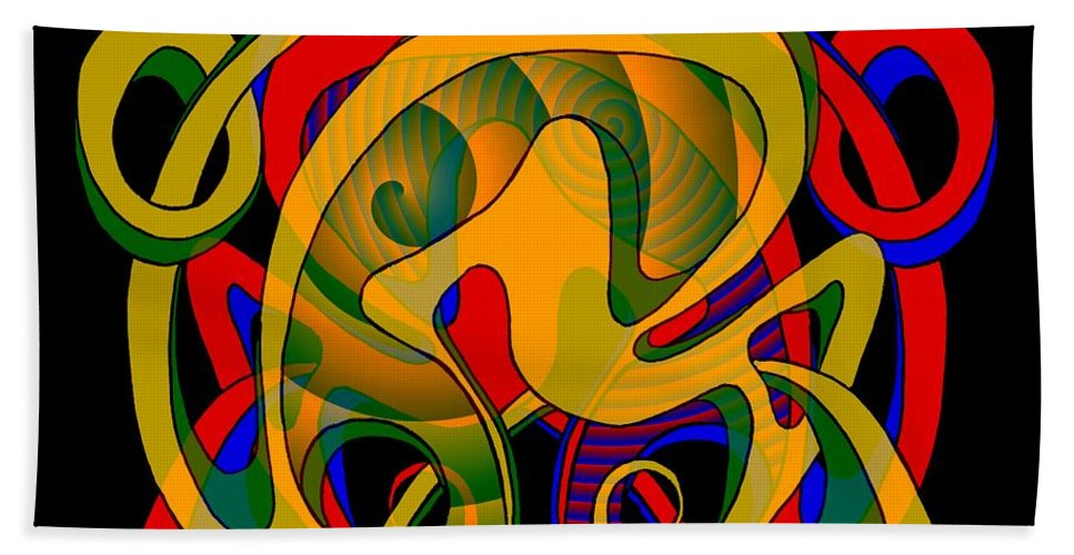 Life Bath Sheet featuring the digital art Corresponding Independent Lifes by Helmut Rottler