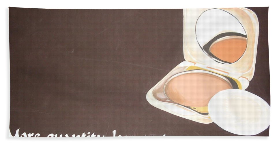 Paintings Bath Sheet featuring the painting Cosmetics Advert by Olaoluwa Smith