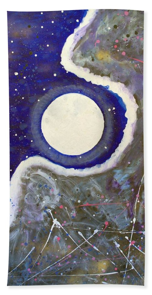 Impressionist Painting Bath Towel featuring the painting Cosmic Dust by J R Seymour
