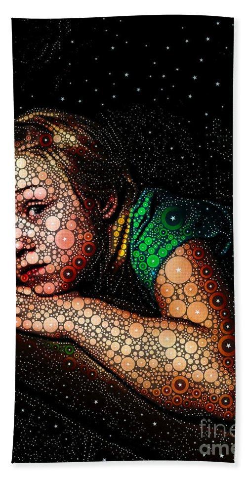 Portrait Bath Sheet featuring the digital art Cosmic Dust by Ron Bissett