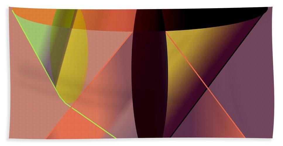 Cosmic Bath Sheet featuring the digital art Cosmic Lifecircuits by Helmut Rottler