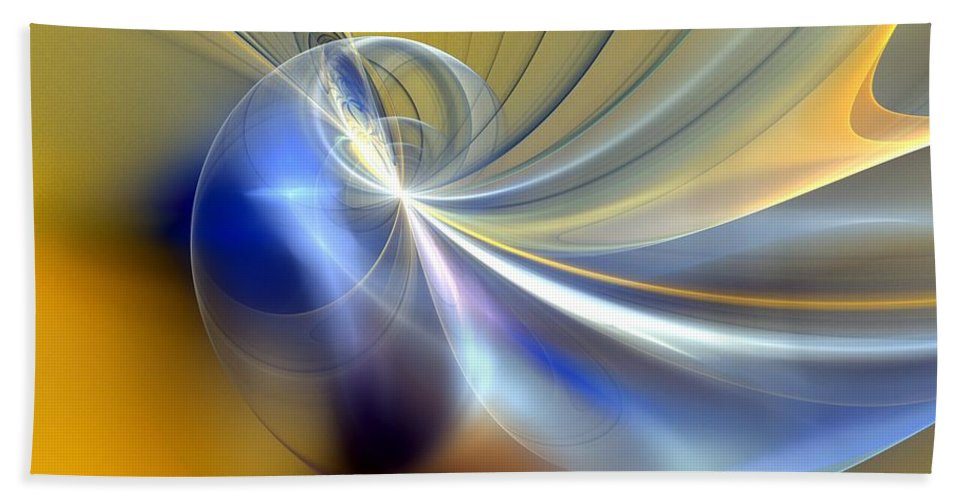 Digital Painting Bath Sheet featuring the digital art Cosmic Shellgame by David Lane