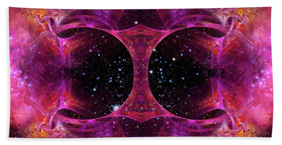 Cosmos Hand Towel featuring the digital art Cosmos by Tammy Wetzel