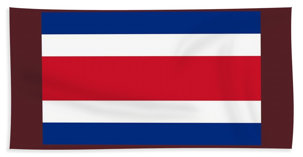 Banner Hand Towel featuring the digital art Costa Rica Flag by Frederick Holiday