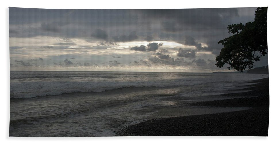 Coast Hand Towel featuring the photograph Costal Sunset by Wes Hanson