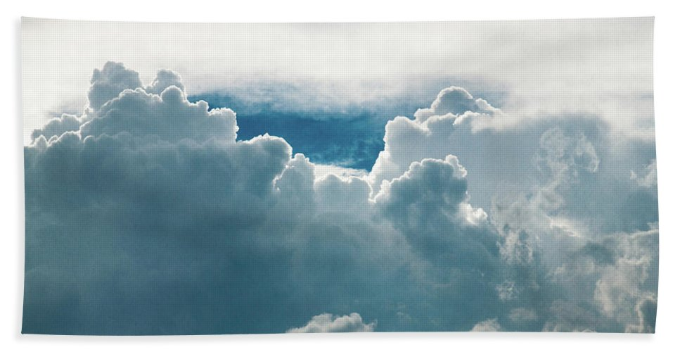 Clouds Bath Towel featuring the photograph Cotton Clouds by Marc Wieland