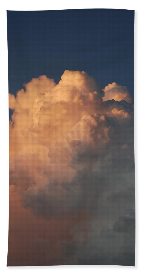 Clouds Hand Towel featuring the photograph Cottonballs by Rob Hans