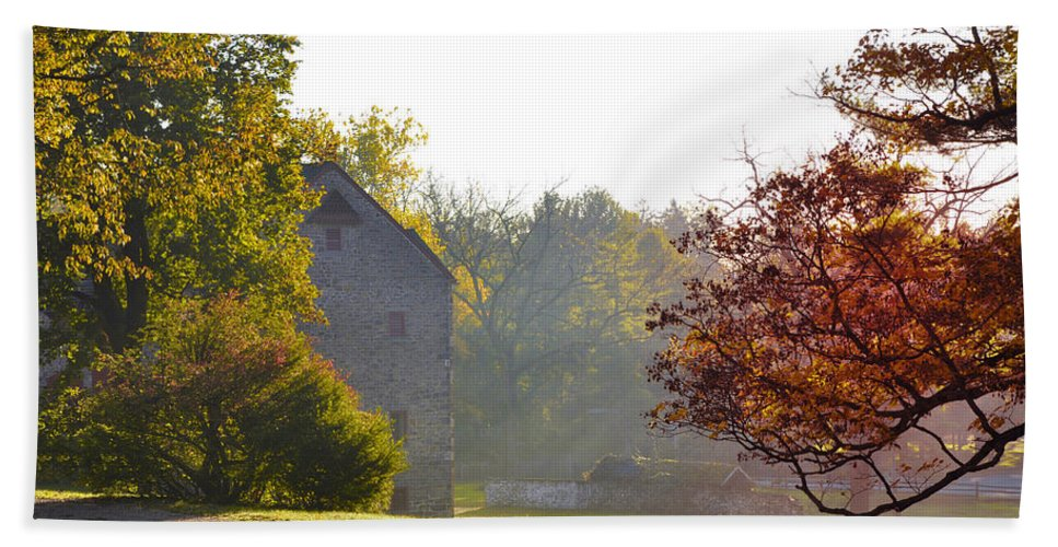 Country Hand Towel featuring the photograph Country Autumn by Bill Cannon