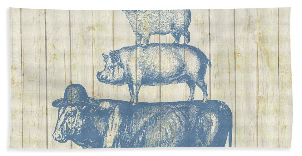 Farm Animals Bath Sheet featuring the photograph Country Farm Friends by Brandi Fitzgerald
